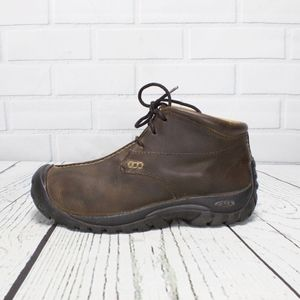 Keen Split toe Brown Leather Ankle Boots Size 8